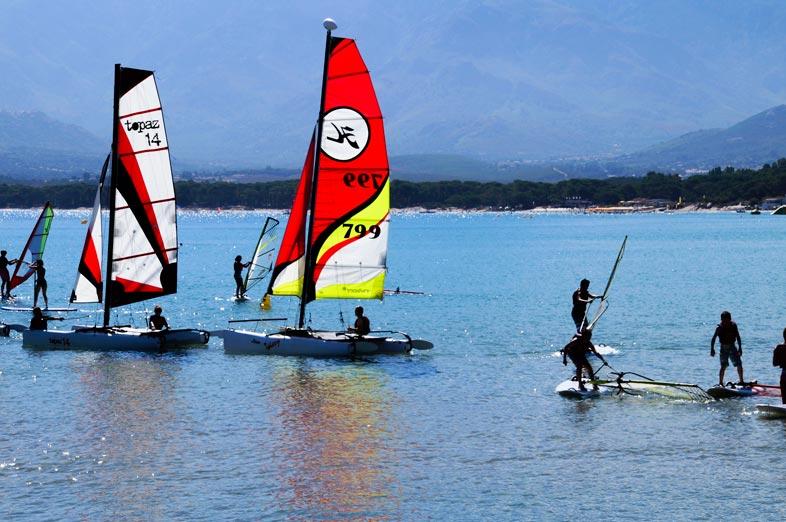 sailing in the sea near campsite Corsica